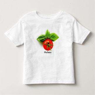 T-shirt italiano da criança da herança camiseta infantil