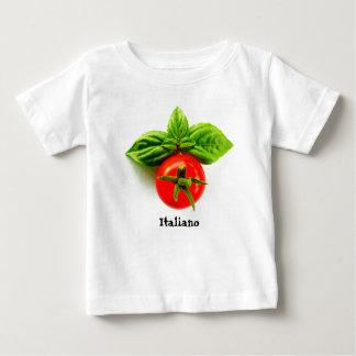 T-shirt italiano do bebê da herança camiseta para bebê
