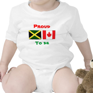T-shirt jamaicanos/canadenses do bebê