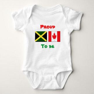 T-shirt jamaicanos/canadenses do bebê body para bebê