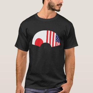 T-shirt Japão-Americano do fã Camiseta