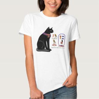 T-shirt jeroglífico do gato egípcio
