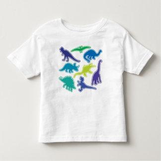 T-shirt legal do dinossauro - azul, roxo e verde camiseta infantil