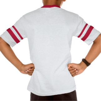 T-shirt listrado retro do V-Pescoço da luva da Aug