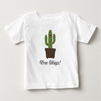 T-shirt livre do bebê dos abraços | do cacto camiseta para bebê