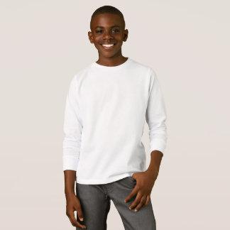 T-shirt longo básico da luva dos miúdos camiseta