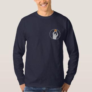 T-shirt longo bordado basquetebol da luva