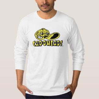 T-shirt longo branco de CapoHeads da luva dos