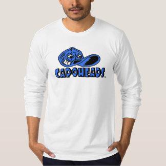 T-shirt longo branco de CapoHeads da luva dos Camiseta