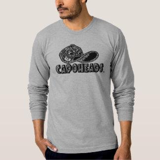 T-shirt longo cinzento de CapoHeads da luva da Camiseta