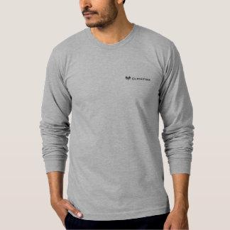 T-shirt longo cinzento de ClickFox da luva