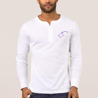 T-shirt longo da luva da caminhada da estrela