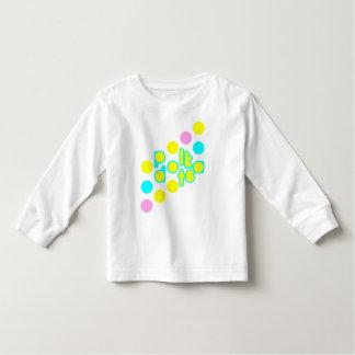 T-shirt longo da luva da criança branca camiseta infantil