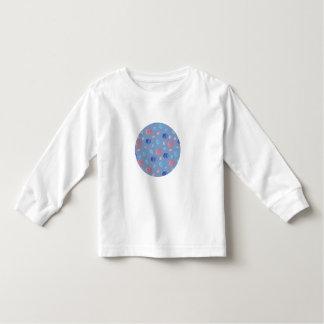 T-shirt longo da luva da criança com lanternas camiseta infantil
