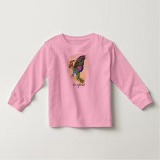 """T-shirt longo da luva da criança do """"Fairyland"""" Camiseta Infantil"""