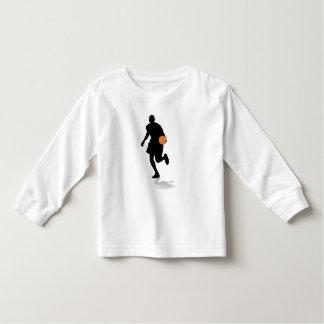 T-shirt longo da luva da criança do jogador de