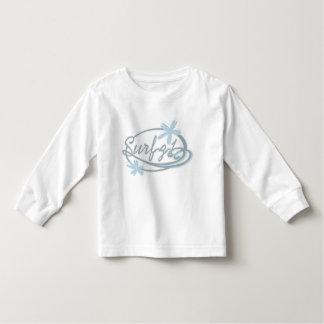 T-shirt longo da luva da criança do surf do