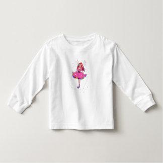 T-shirt longo da luva da criança do vestido de