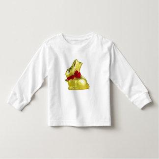 T-shirt longo da luva da criança dourada do coelho