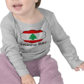 T-shirt longo da luva da criança libanesa do bebê