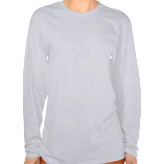 T-shirt longo da luva das mulheres caminhadas