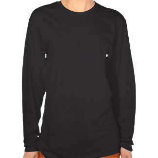 T-shirt longo da luva das mulheres torcidas da