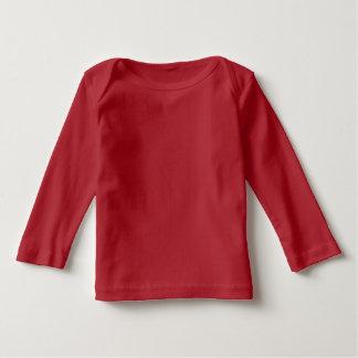 T-shirt longo da luva do bebê