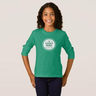 T-shirt longo da luva do dia de St Patrick Camiseta