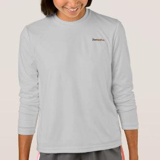 T-shirt longo da luva do Esporte-Tek de Samantha Camiseta