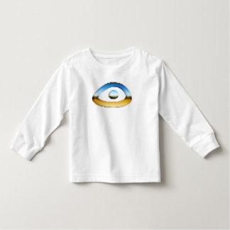 T-shirt longo da luva do olho