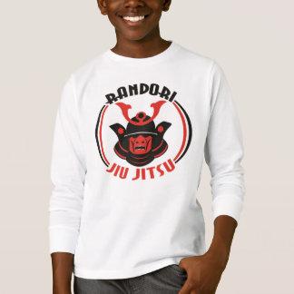 T-shirt longo da luva do Randori Jiu Jitsu dos Camiseta