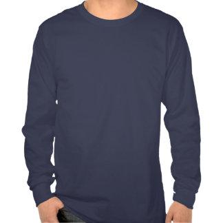 T-shirt longo da luva dos homens budistas do símbo