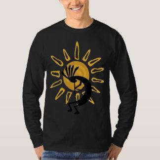T-shirt longo da luva dos homens do ouro de camiseta