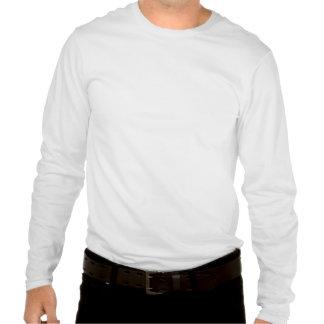 T-shirt longo da luva dos homens dos bonecos de ne