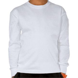 T-shirt longo da luva dos miúdos com penas