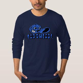 T-shirt longo de CapoHeads da luva do marinho dos