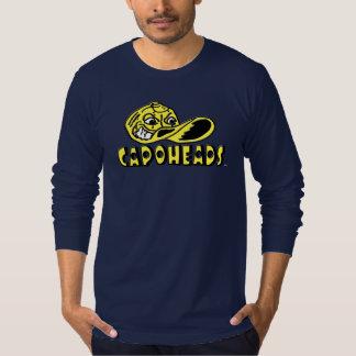T-shirt longo de CapoHeads da luva do marinho dos Camiseta