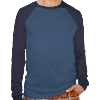 T-shirt longo do Raglan da luva das canvas dos