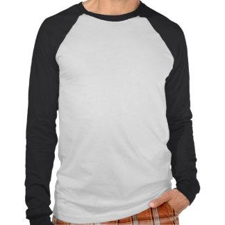 T-shirt longo do raglan da luva dos homens