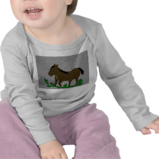 T-shirt longo infantil da luva