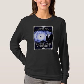 T-shirt longo mestre da luva de Fard Muhammad Camiseta