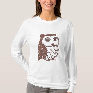 T-shirt longo Nano da luva do Hanes das mulheres Camiseta