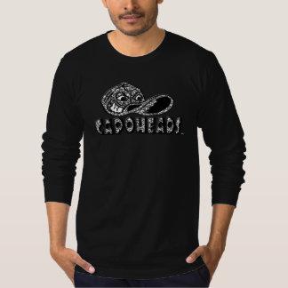 T-shirt longo preto de CapoHeads da luva dos