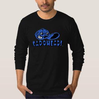 T-shirt longo preto de CapoHeads da luva dos Camiseta