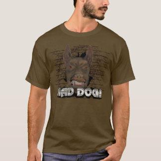 T-shirt louco do cão camiseta