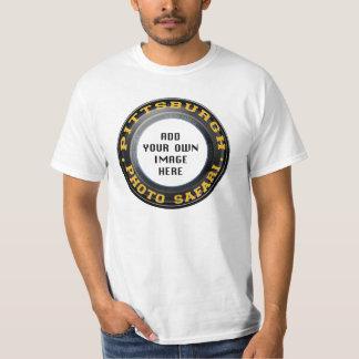 T-shirt luz-colorido safari da foto de Pittsburgh Camiseta