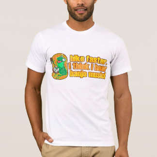 T-shirt mais rápido do sapo da caminhada camiseta