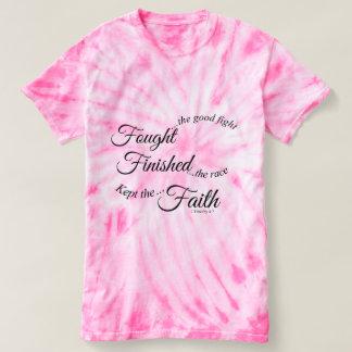 T-shirt mantido terminado lutado da fé camiseta