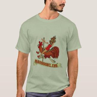 T-shirt mau do carrossel do menino (cores mornas) camiseta