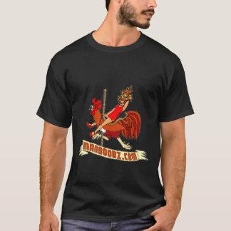 T-shirt mau do carrossel do menino (cores mornas, camiseta